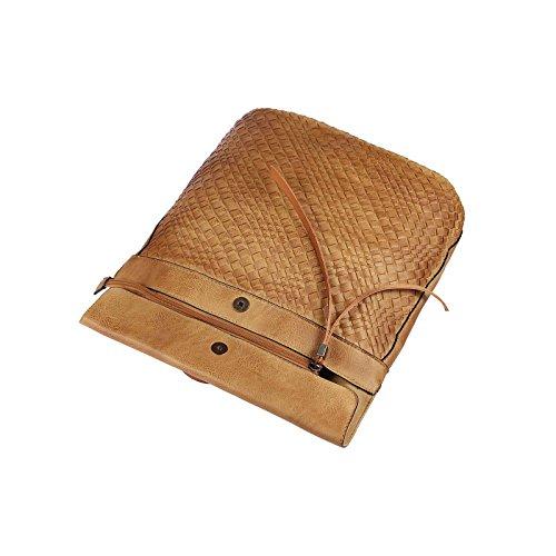 OBC Only-Beautiful-Couture - Bolso mochila  para mujer Marrón Cognac 28x30x14 cm ca.: 28x30x14 cm (BxHxT) Cognac V1