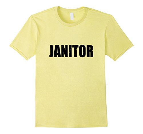 Mens Janitor Halloween Costume Party Cute & Funny T shirt Large (Funny Janitor Costumes)
