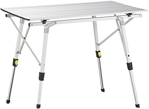 Uquip Variety M Aluminium Camping Table – Medium Size 35 x 21 – Height Adjustable