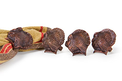 Manor-Luxe-Gobble-Turkey-Holiday-Brass-Metal-Napkin-Rings-Set-of-4