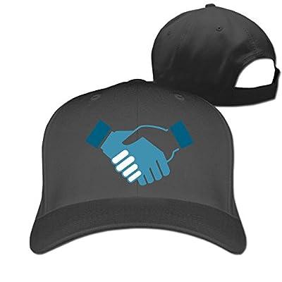 Hand Shake Designer Trucker Cap Peaked Hat Unisex Baseball Hats