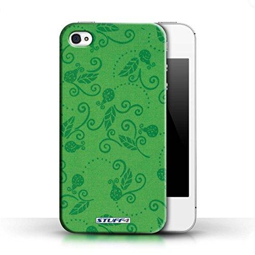 Etui / Coque pour Apple iPhone 4/4S / Vert conception / Collection de Motif Coccinelle