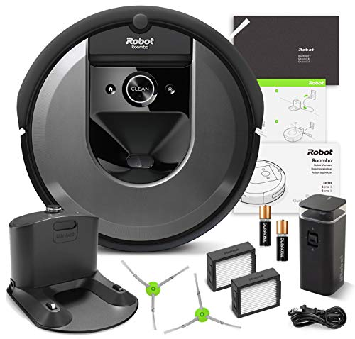 iRobot Roomba i7 Robotic Vacuum Cleaner Wi-Fi Connectivity + Manufacturer's Warranty + Extra Sidebrush Extra Filter Bundle