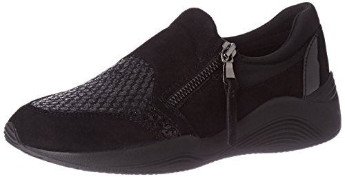 Geox A black Femme Sneakers D Basses Noir Omaya rwnTrx0E