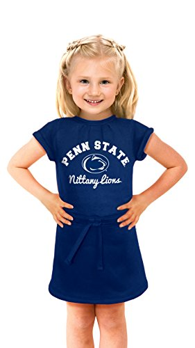 NCAA Penn State Nittany Lions Girls Cold Night Dress, 4T, Navy