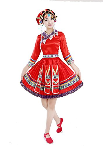 Women Miao Hmong Clothing Chinese Folk Dance Costume National Clothes