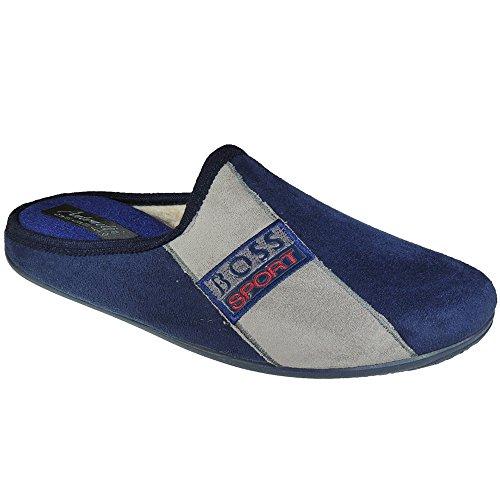 ANTONETTI - Zapatillas De Casa Desatalonadas - Modelo 77001 MARINO