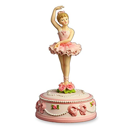 The San Francisco Music Box Company Ballerina and Bows Rotating Musical Figurine