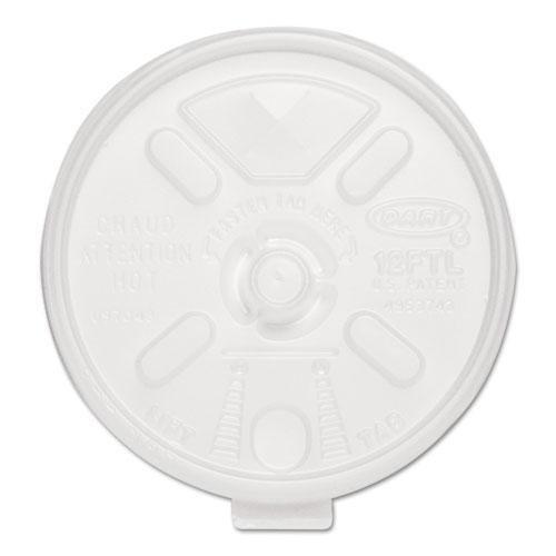 DCC 12FTLS Liftn`Lock Lids, 10-14oz Cups, Translucent, 100/Sleeve, 10 - Ounce Translucent 14 Cup