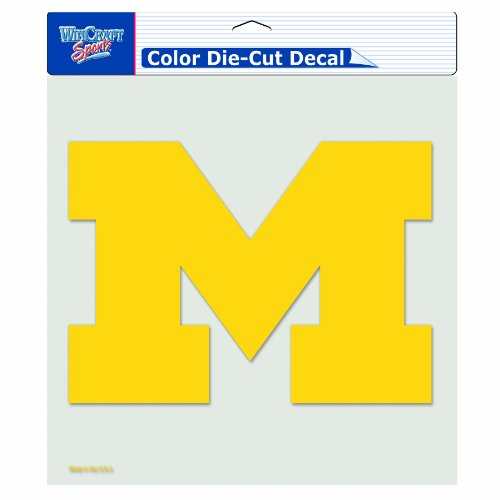 NCAA Michigan Wolverines 8-by-8 Inch Diecut Colored Decal