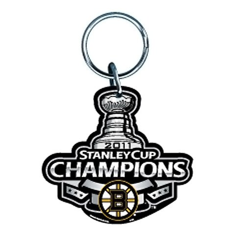 Boston Bruins 2011 NHL Stanley Cup Champions Premium Acrylic Key Ring