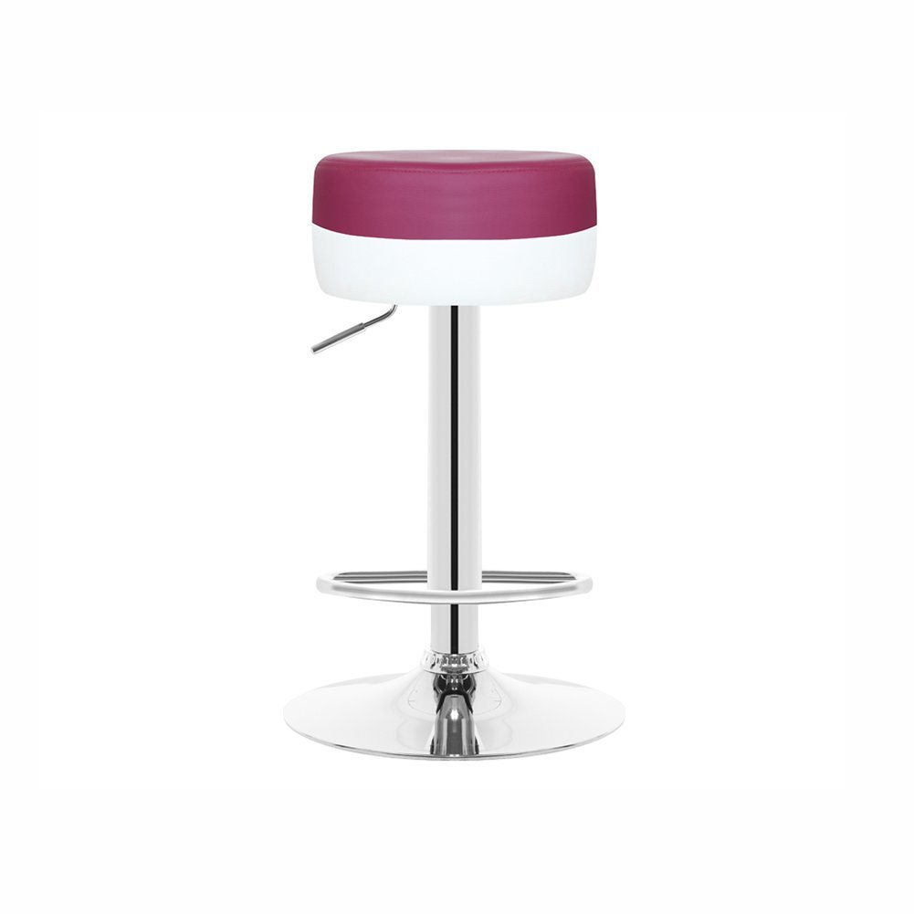 orange LBYMYB High Stools Bar Stools Front Desk Chair Reception Chair Can Be Assembled and Can Be redated Up to 70-90cm High Bar Stool (color   Pink)