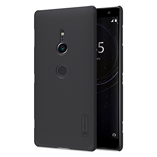 for Sony Xperia XZ2 Case,Nillkin [with with Kickstand] Frosted Shield Anti Fingerprints Hard PC Case Back Cover for Sony Xperia XZ 2 -Retail Package (Black)