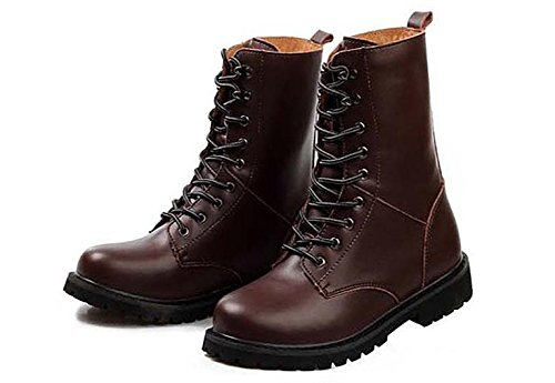 Las botas de los hombres de invierno c¨¢lido cord¨®n al aire libre brown