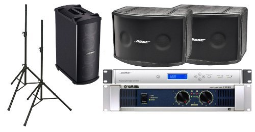 Bose 802 IV Portable Loudspeaker Bundle with QSC GX5 Power Amplifier, Speaker Stands and Accessories - Portable PA System (12 Items) by Bose