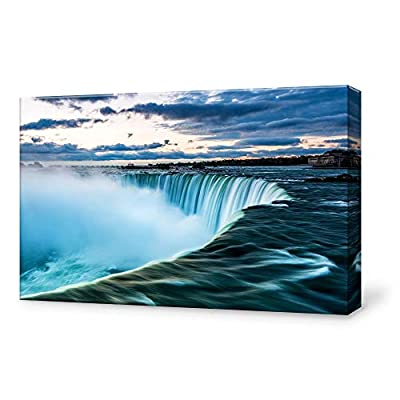Canvas Wall Art for Living Room,Bedroom Home Artwork Paintings Waterfall Landscape Ready to Hang - 12x18 inches