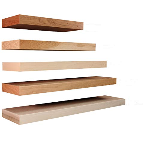 (Floating Shelves Solid Wood and Veneer Construction, Cherry Shelf Appliances, 30 x 10 Inches)