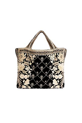 Amazon.com: Johnny Was Othilia Bolso de terciopelo negro ...