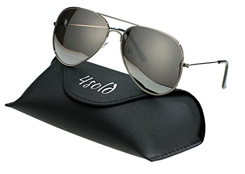 Silver Aviador de sol 400 UV 4sold el caso polarizado Hombre Protección gafas de con conducción wT6I1