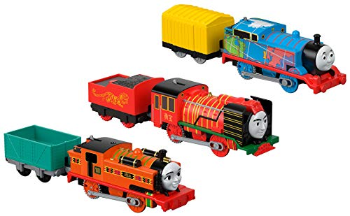 Fisher-Price Thomas & Friends TrackMaster, Around the World, 3-Pack (Thomas Lego Train)