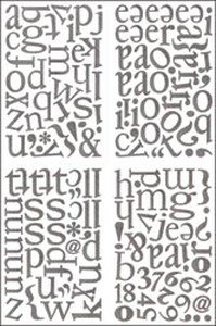 Basic Grey Sugar Rush Die-Cut Chip Stickers 4 Sheets-Alphabet