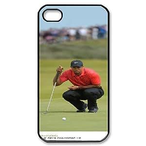 IPhone 4/4s Case ÀÏ»¢Îé×ÈÔÚ¹«¿ª½õ±êÈü, IPhone 4/4s Case Tiger Woods Design for Men, [Black]