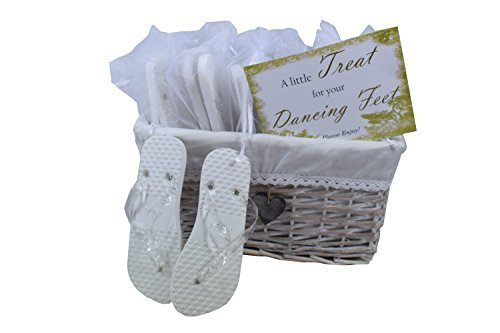 58a8b18d9 Amazon.com  Wedding Party Flip Flop Guest Gift Basket 20 pairs by MODO   Health   Personal Care