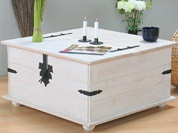 Holztruhe Tisch massiver kiefer truhentisch mexico in weiß truhe tisch amazon de