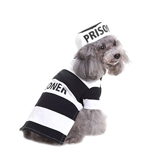 Tutuba Prison Pooch Dog Halloween Costume for Small Dog]()