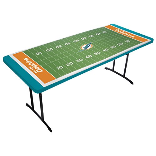 UPI Marketing NFL Miami Dolphins Table Top Tablecloth, Green