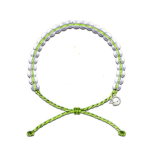 - 4OCEAN Bracelet with Charm Made from 100% Recycled Material Upcycled Jewelry (Green)