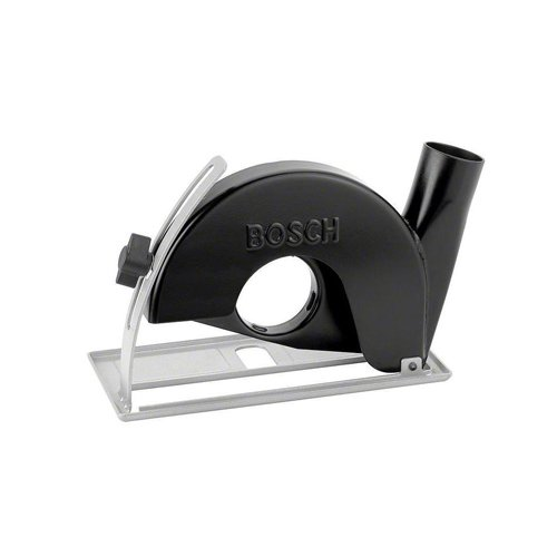 Bosch 2605510292 Cutting Guide with dust Extraction Outlet-Tool-Free Angle Grinders, Black