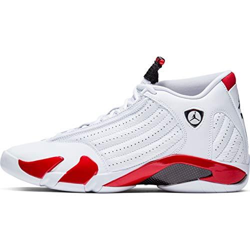 Nike Air Jordan XIV 14 Retro Candy Cane RIP Hamilton 487471-100 US Size 10 White (Retro Jordan 14)