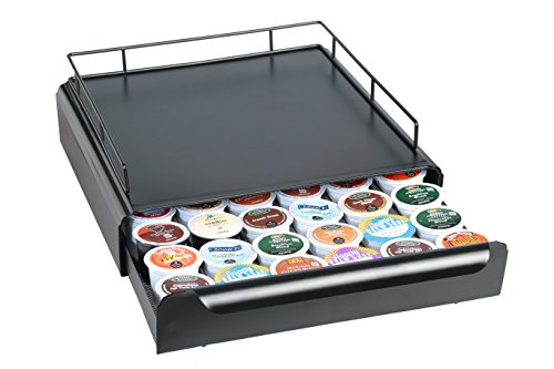 Svidnik K-Cup Storage Drawer Holder With Brewer Protector (Black) - 36 Pods