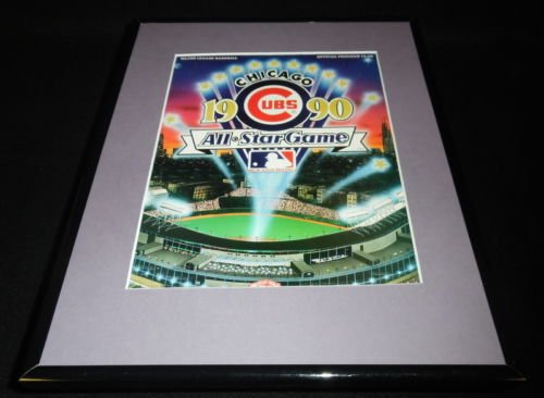 1990 MLB All Star Game Framed 11x14 ORIGINAL Program Cover Chicago Wrigley Field 1990 Mlb All Star Game