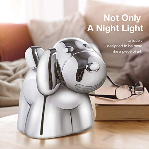 Baby Night Light,  iFanzy Rechargeable LED Nursery Lamp Cute Animal Children Bedside Lamp with Touch Sensor and Warm Night Light - Baby Gifts (Dog)