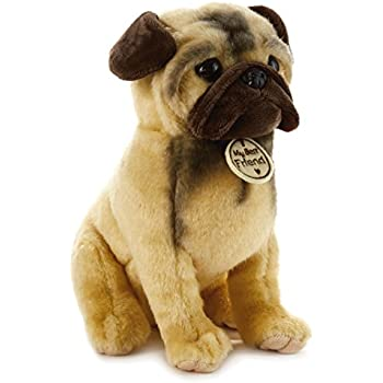 stuffed animal pug amazon com faithful friends pug stuffed animal plush toy 290