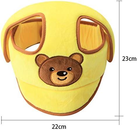protection de la t/ête de b/éb/é capuche respirante avec bandeau brod/é en coton doux Akin Casque de s/écurit/é r/églable pour b/éb/é