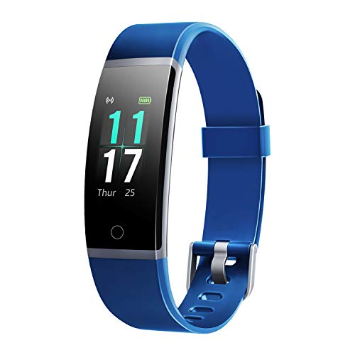 Letsfit Fitness Tracker HR, Activity Tracker with Step Counter,IP68 Waterproof Pedometer with Calorie Counter, Sleep Monitor,Smart Fitness Band for Men Women Kids