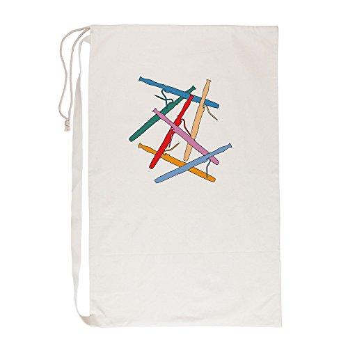 Symphony Gift Basket - CafePress Colorful_Bassoons-4-Black-2 - Laundry Bag, 23
