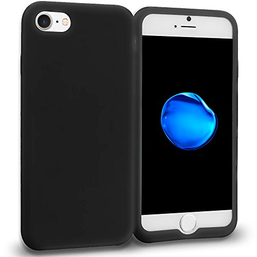 JNSupplier For Apple iPhone 7 Soft Silicone Rubber Case Flexible Matte Skin Jelly Cover (Black)