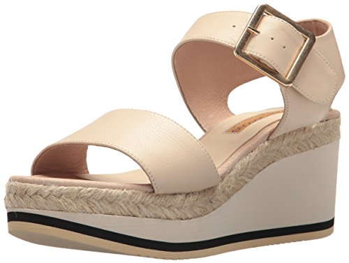 André Assous Women's Carmela Espadrille Wedge Sandal Cream duXjKbw