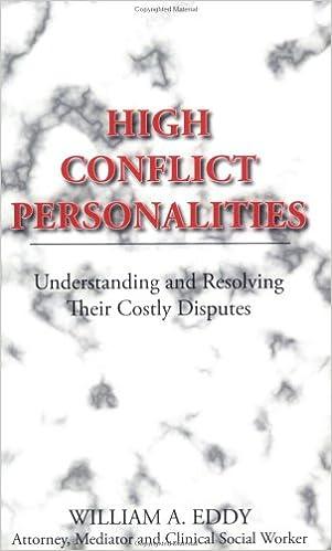 High Conflict Personalities: Understanding and Resolving