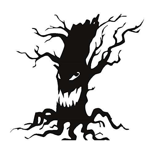 Ebeauty Halloween Wall Sticker,Halloween Ghost Tree Wall Sticker Self Adhesive DIY Art Mural Decals for Home Room Black -