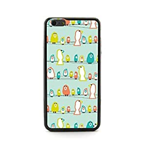 CaseCityLiu - Birds stand on the Line Cartoon Sweet Pattern Design Hard Case Cover for Apple iPhone 5 5s 5th 5g 5Generation Come With FREE Non Woven Packing Bag