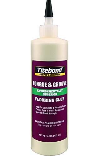 Titebond 2104 Tongue and Groove Glue Bottle, 16 oz. - Glue Engineered Floor