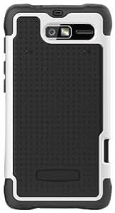 Ballistic Black / White Shell Gel - Motorola Droid RAZR M XT907 - SG1075-M385