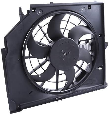 OCPTY Replacement Radiator//Condenser Cooling Fan Assembly for BMW 320i 323i 325Ci 325i 325xi 328i 330Ci 330i 330xi