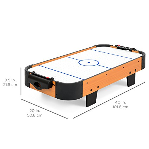 Best Choice Products 40in Air Hockey Table w/ Electric Fan Motor, 2 Strikers, Pucks - Multicolor