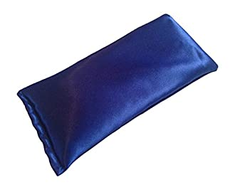 Lavender Eye Pillow- Silk Eye Pillow for Yoga, Meditation and Relaxation. This Eye Mask Is Perfect for Sleeping. Our Pillows Are Made of Lavender Flowers and Organic Flax Seed. Get One for Yourself or As a Gift-Blue Eye Pillow